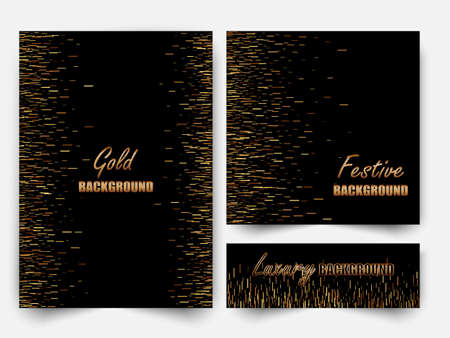 Abstract gold glitter background for the card, invitation, brochure, web design.