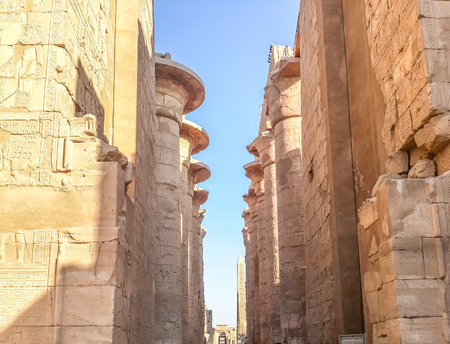 Luxor monuments and colomns Stock Photo