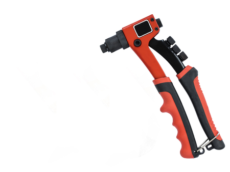 clincher: A new rivet gun on an isolated background Stock Photo