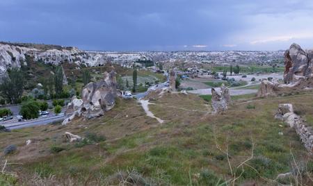 Open air landscape in Goreme national park. Cappadocia, Anatolia, Turkey.