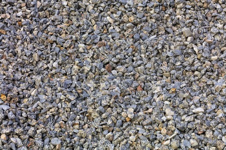 Background and texture of fine gray granite rubble Stok Fotoğraf - 118976298