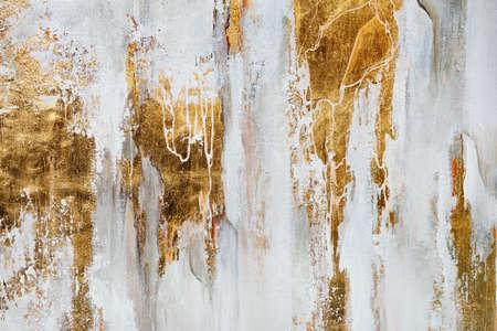 The texture of the oriental style of gray and gold canvas with an abstract pattern, close-up. Foto de archivo