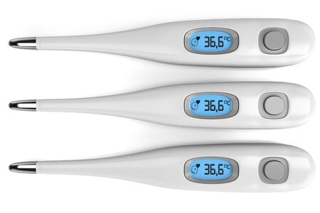 thermometer: Three thermometer isolated on white background