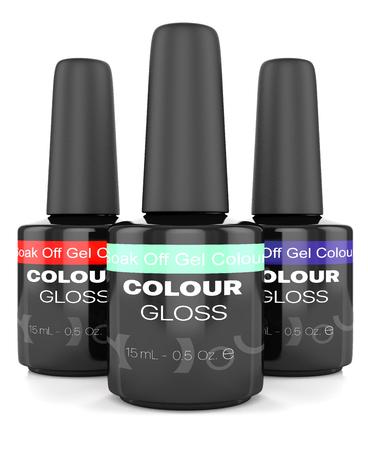 nursing bottle: bottles of nail polish isolated on white background