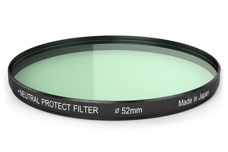 exactness: filter to protect the lens isolated on white background