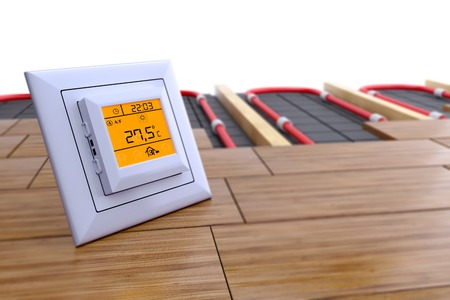 the temperature control for underfloor heating