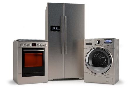 domestic appliances: domestic appliances, isolated white background