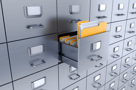 cell block: Filing cabinet 3D Stock Photo