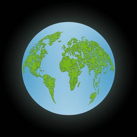 madre tierra: Tierra madre abstracta de las estrellas