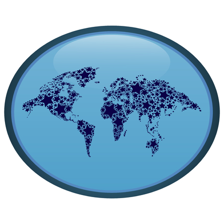 Abstract oval world map icon royalty free cliparts vectors and abstract oval world map icon stock vector 63282226 gumiabroncs Gallery