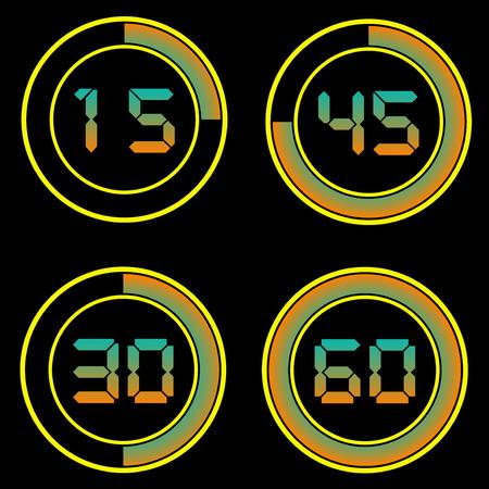 circles: Digits and circles Illustration