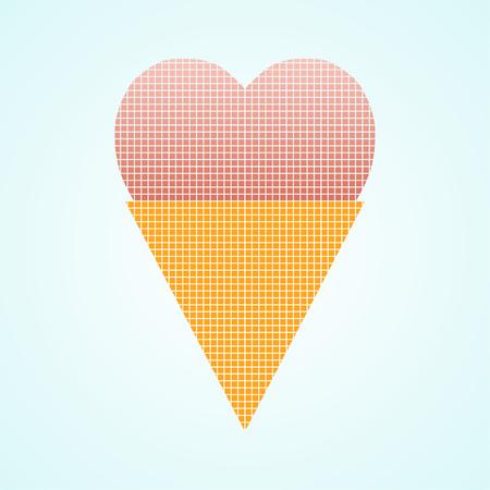 ice cream. Ice cream vector. Abstract ice cream.