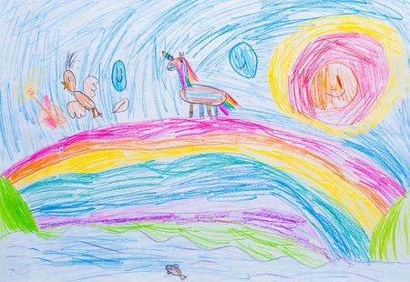 子 s 描画抽象鉛筆