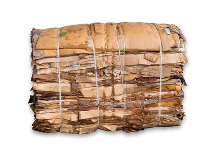 carton: paca de cartón aislados en blanco Foto de archivo
