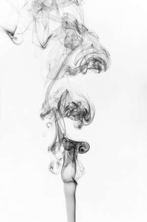 black smoke on white background photo