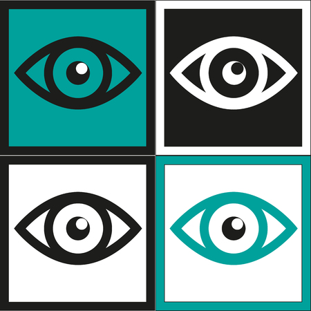 Eyes icon - Simple vector Vector