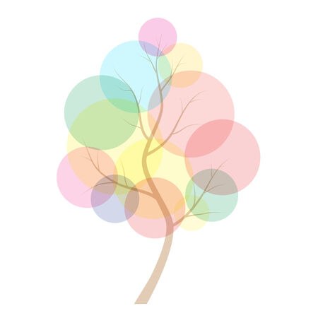 abstract tree with colored balls on branches Vector