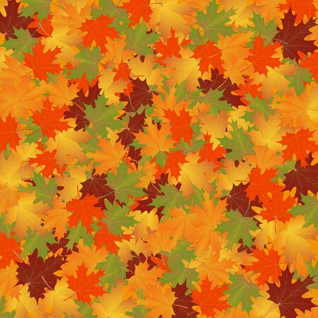 background herfst: herfst achtergrond van bladeren maple.vector illustratie.