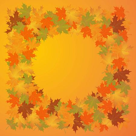 background herfst: autumn background of leaves  maple.vector illustration. Stock Illustratie
