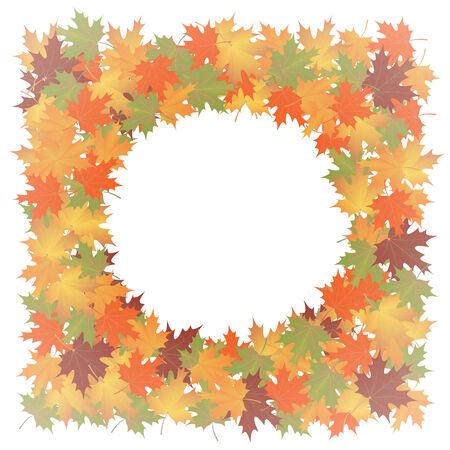 hintergrund herbst: Herbst Hintergrund der Bl�tter maple.vector Illustration. Illustration