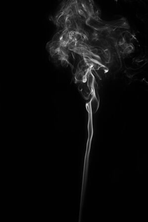 Abstract smoke moves on a black