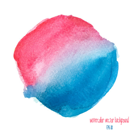Designed abstract watercolor background, design element. red and blue watercolor circle Illustration
