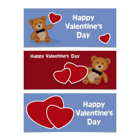 bear cub: Funny cartoon bear cub with red heart.