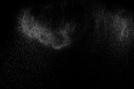black texture: abstract splashes of water on a black background. abstract water spray. abstract rain. design elements. abstract texture. Stock Photo
