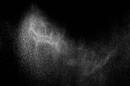water splash: abstract splashes of water on a black background. abstract water spray. abstract rain. design elements. abstract texture. Stock Photo