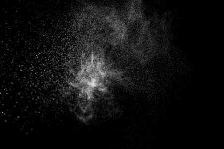 water surface: abstract splashes of water on a black background Stock Photo