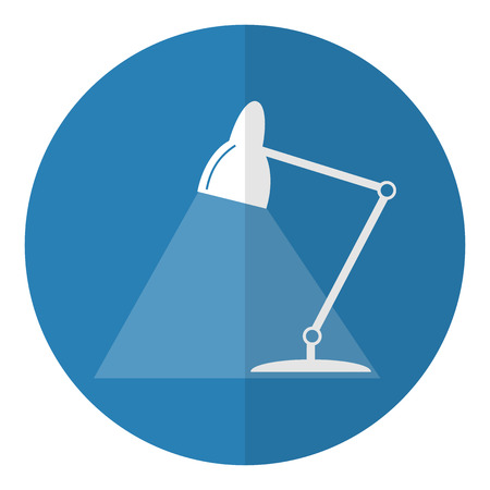 table lamp: Table lamp icon. Flat style. Vector illustration.