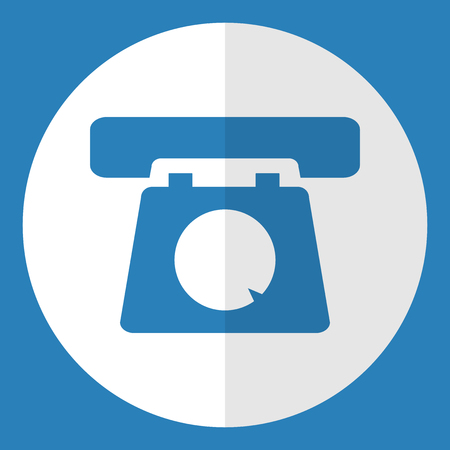 old telephone: Old telephone  icon. Flat style. Vector illustration.