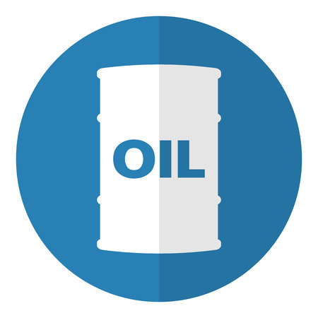 Barrel of oil icon. Flat style. Vector illustration.