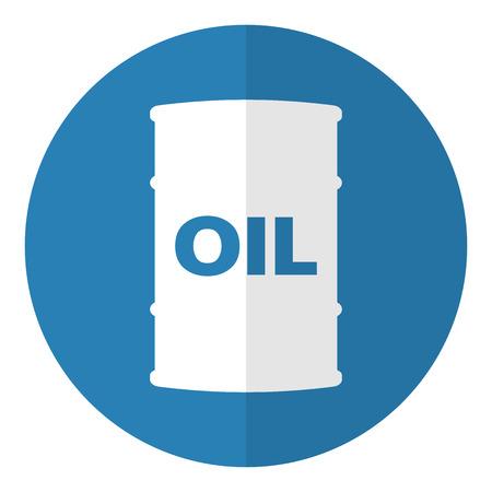 Barril de petróleo icono. Estilo Flat. Ilustración del vector. Foto de archivo - 36575296