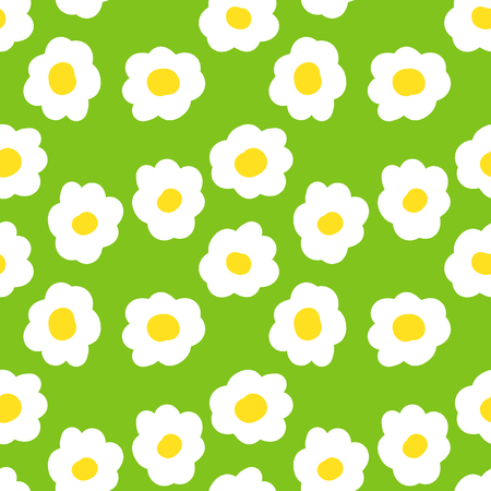 seamless camomile floral  pattern. vector  illustration. vector wallpaper. design element. Ilustracja