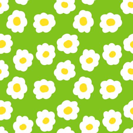 seamless camomile floral  pattern. vector  illustration. vector wallpaper. design element. Illustration
