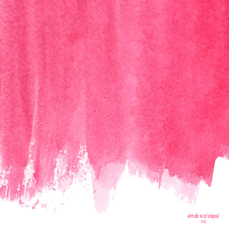 Designed abstract watercolor background, design element, pink  watercolor square.
