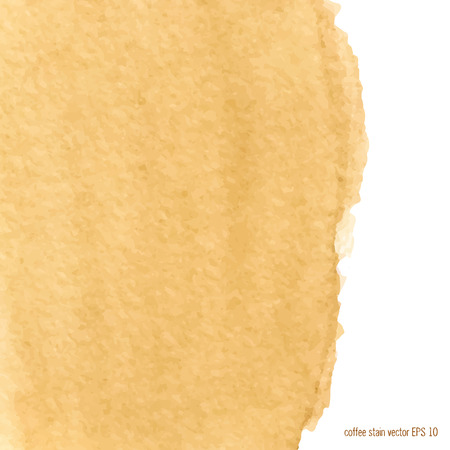 Designed abstract watercolor coffee stain background  square. Vector