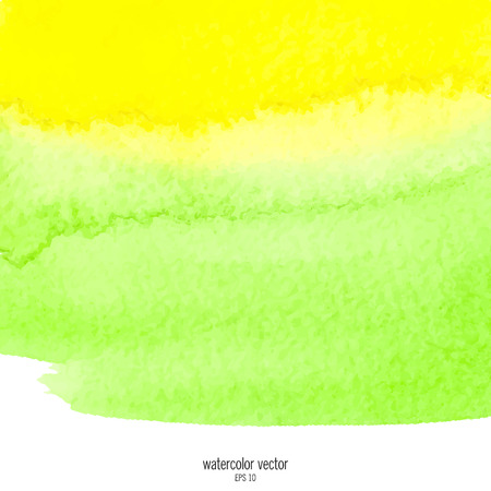 designed: Designed abstract watercolor background, design element, green and yellow  watercolor square. Illustration