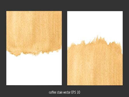 coffee stain: Vector background with coffee stain watercolor. Abstract watercolor. Abstract hand drawn watercolor background, vector illustration.