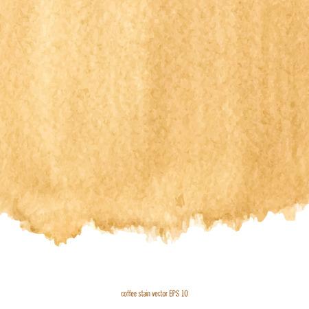 抽象的な水彩コーヒー染み背景正方形に設計されています。
