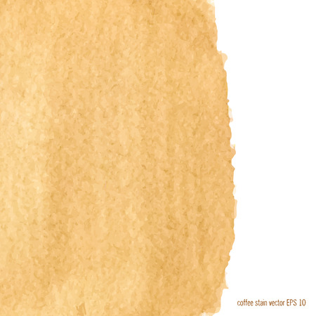 Designed abstract watercolor coffee stain background  square.