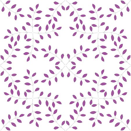 sprig: Sprig with leafs seamless pattern, handmade,vector illustration.