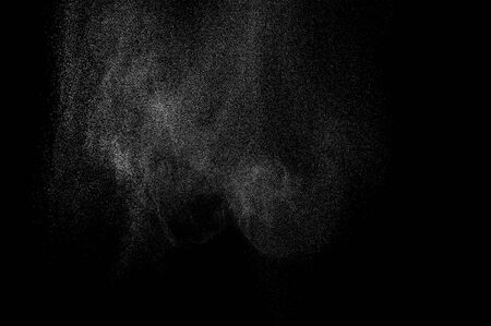 background waterfalls: abstract splashes of milk on a black background