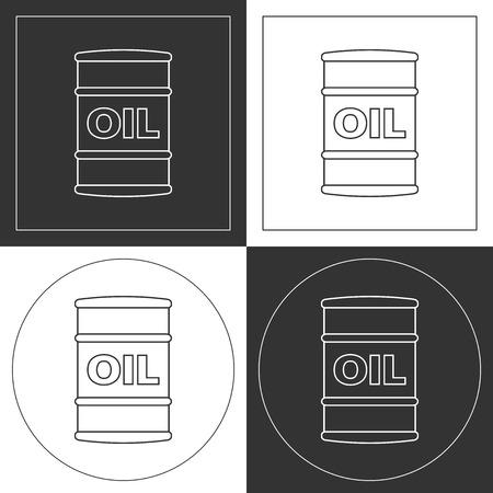 plots: Oil barrel  line icons. Contour plots. Vector illustration.