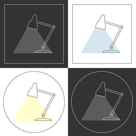 plots: Table lamp  line icons. Contour plots. Vector illustration.