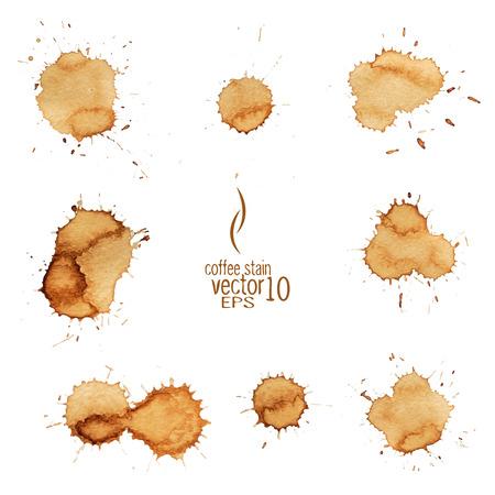 コーヒーの染み水彩