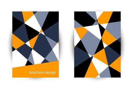 Business brochure. Editable A4 poster for design, presentation, business flyer template .  Vector abstract geometric background. Ilustração