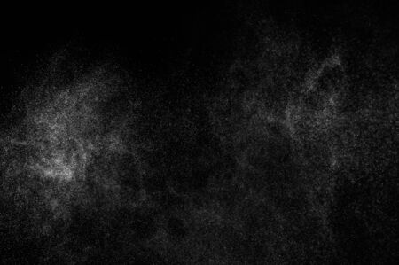 ripple water: abstract splashes of water on a black background Stock Photo