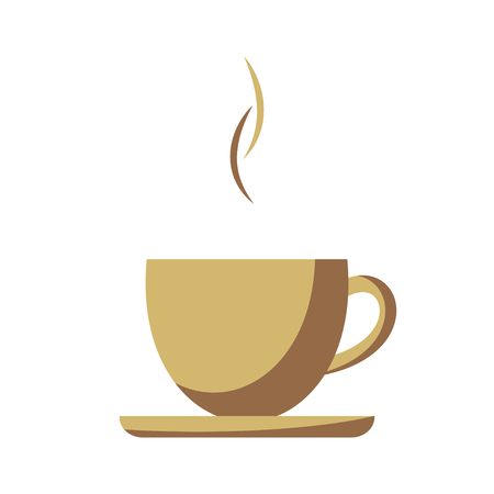 espresso cup: Coffee cup simple flat illustration
